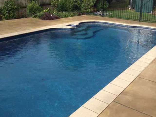 Two Colour Pool Patio