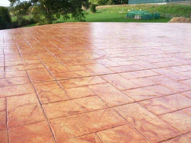 Stamped and Coloured Concrete
